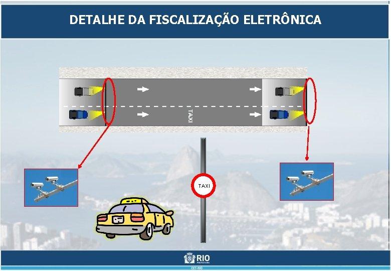 DETALHE DA FISCALIZAÇÃO ELETRÔNICA TAXI