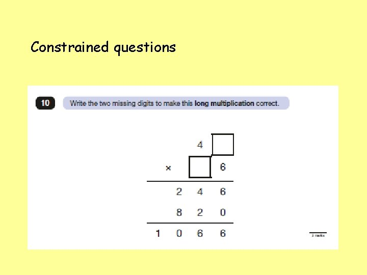 Constrained questions