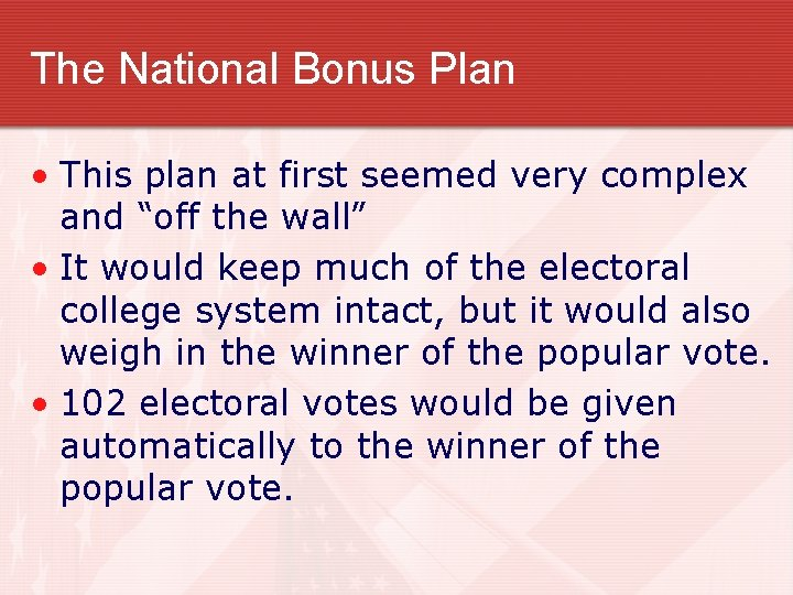 """The National Bonus Plan • This plan at first seemed very complex and """"off"""