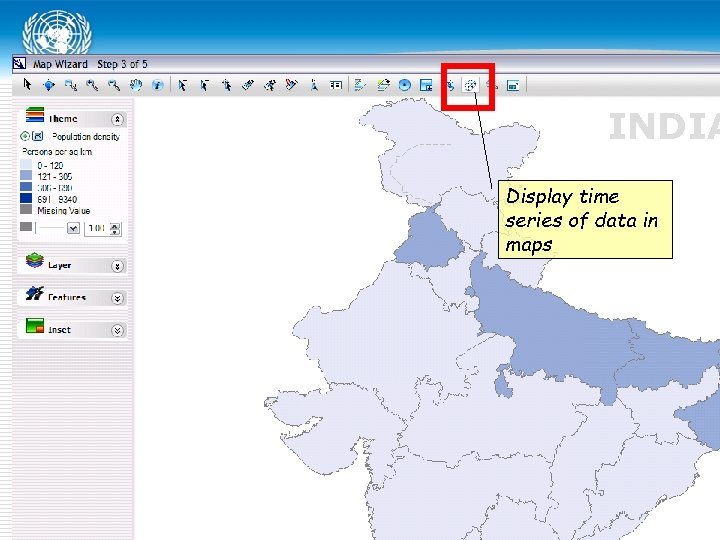 INDIA Display time series of data in maps