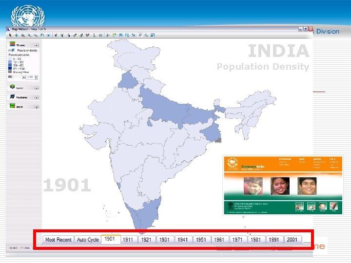 INDIA Population Density 1901