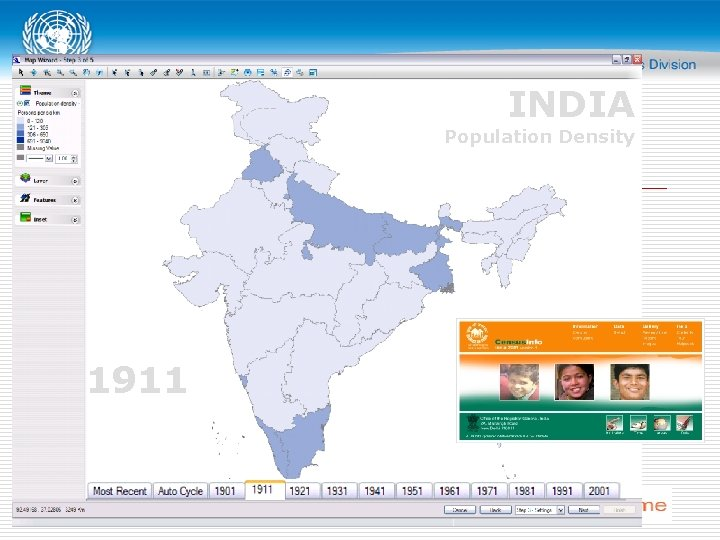 INDIA Population Density 1911