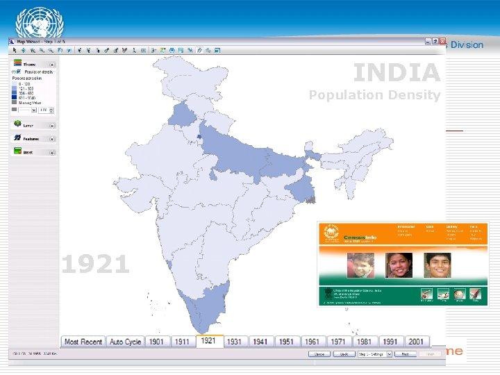 INDIA Population Density 1921
