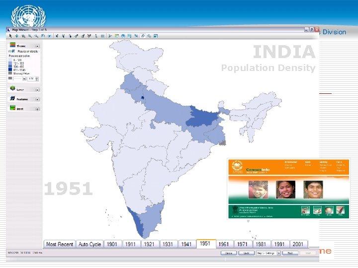 INDIA Population Density 1951