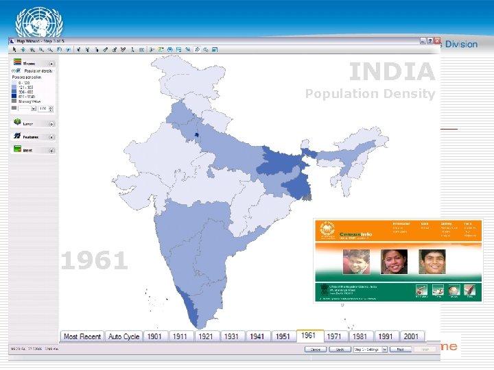 INDIA Population Density 1961