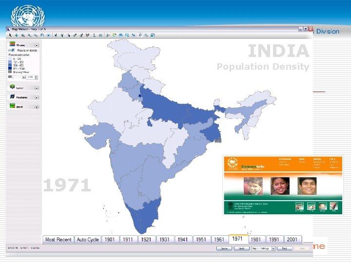 INDIA Population Density 1971