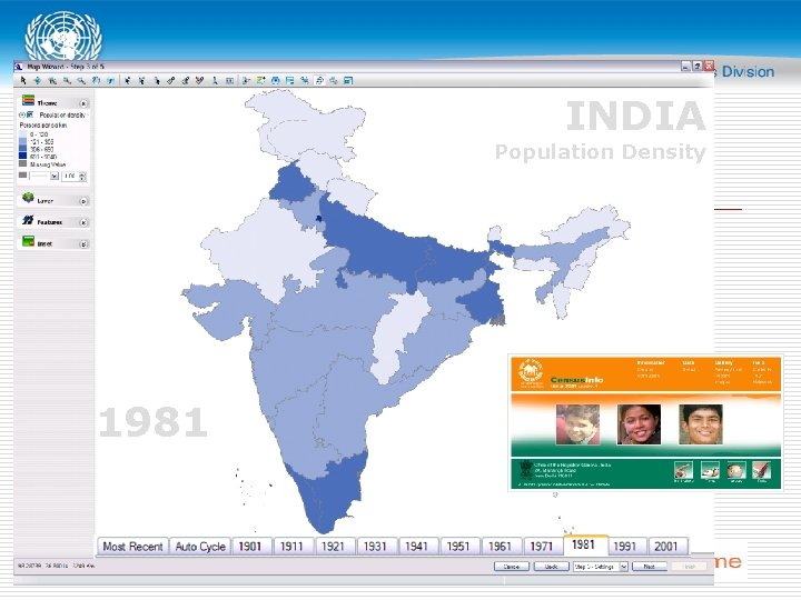 INDIA Population Density 1981