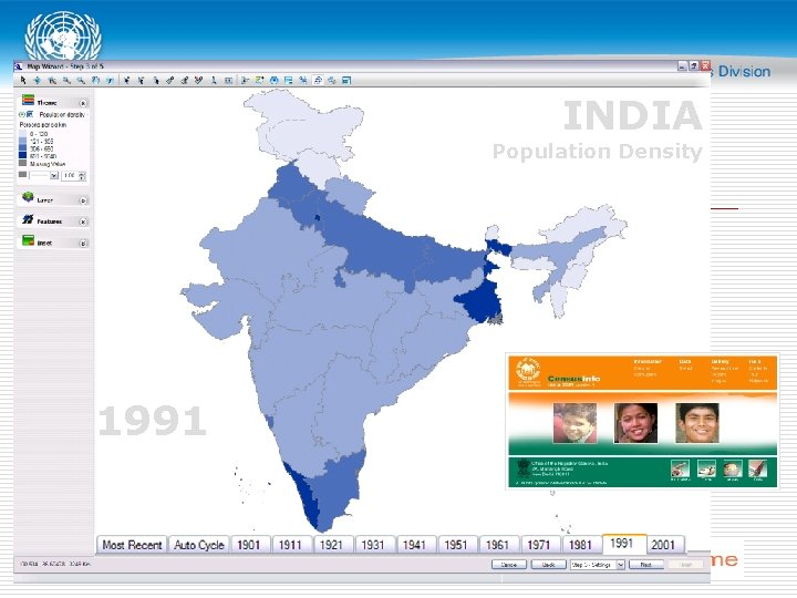 INDIA Population Density 1991