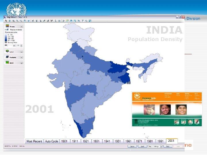 INDIA Population Density 2001
