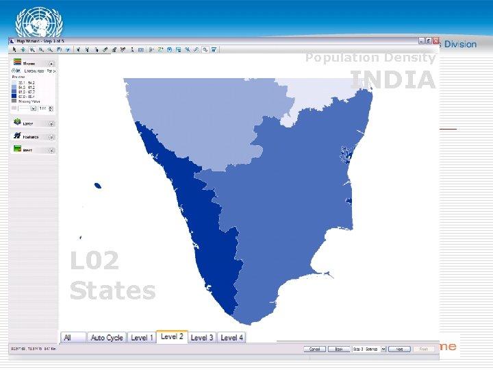 Population Density INDIA L 02 States