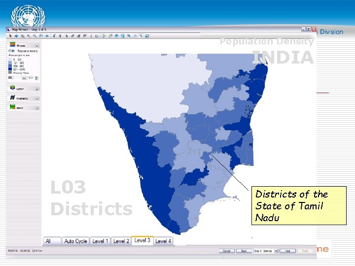 Population Density INDIA L 03 Districts of the State of Tamil Nadu