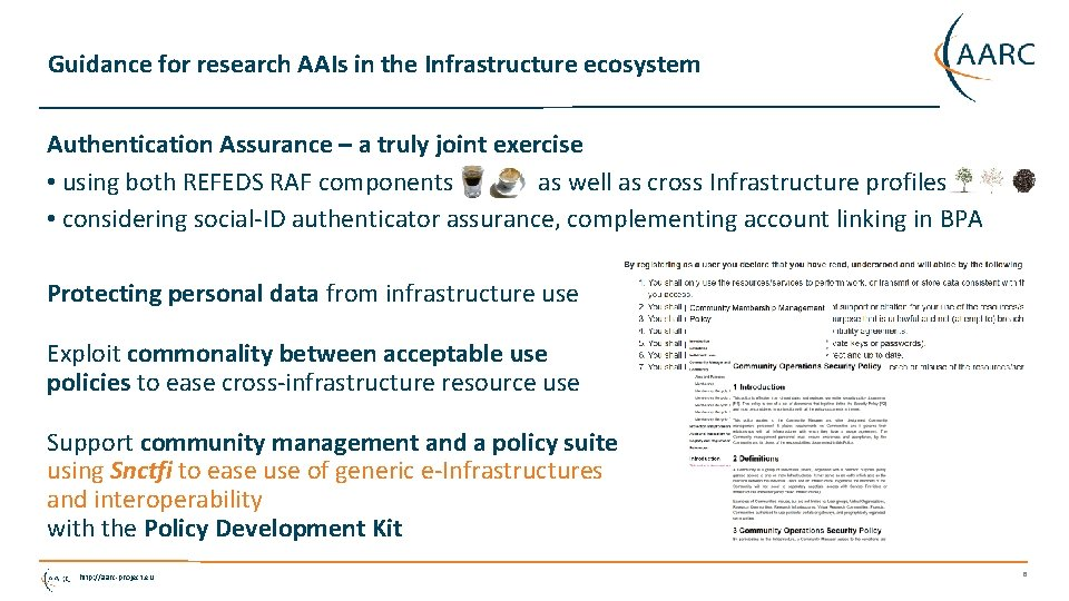 Guidance for research AAIs in the Infrastructure ecosystem Authentication Assurance – a truly joint