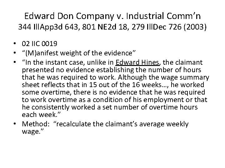 Edward Don Company v. Industrial Comm'n 344 Ill. App 3 d 643, 801 NE