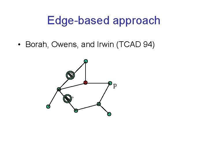 Edge-based approach • Borah, Owens, and Irwin (TCAD 94) e p e'