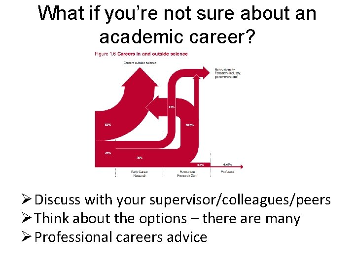 What if you're not sure about an academic career? Ø Discuss with your supervisor/colleagues/peers