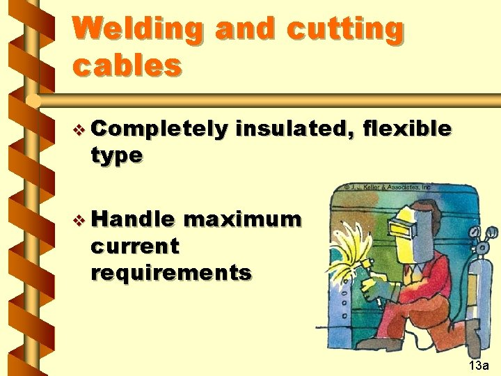 Welding and cutting cables v Completely type v Handle insulated, flexible maximum current requirements