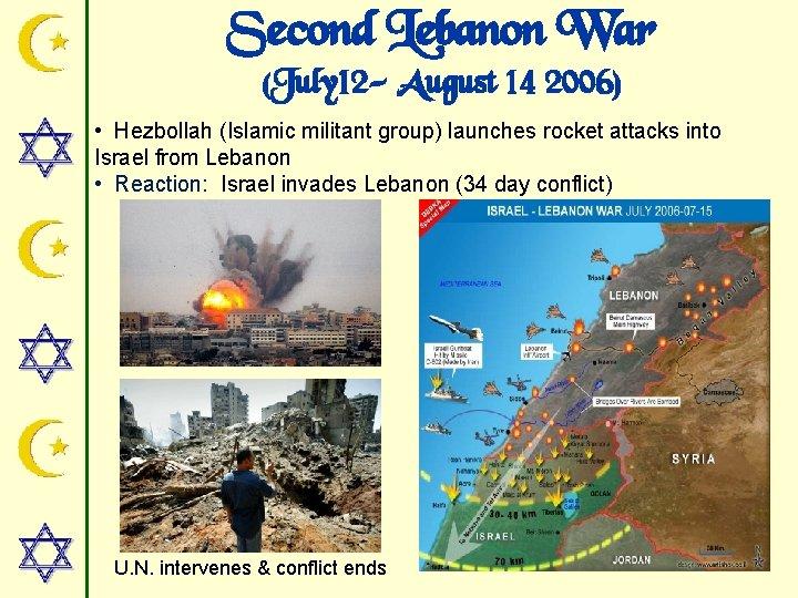 Second Lebanon War (July 12 - August 14 2006) • Hezbollah (Islamic militant group)
