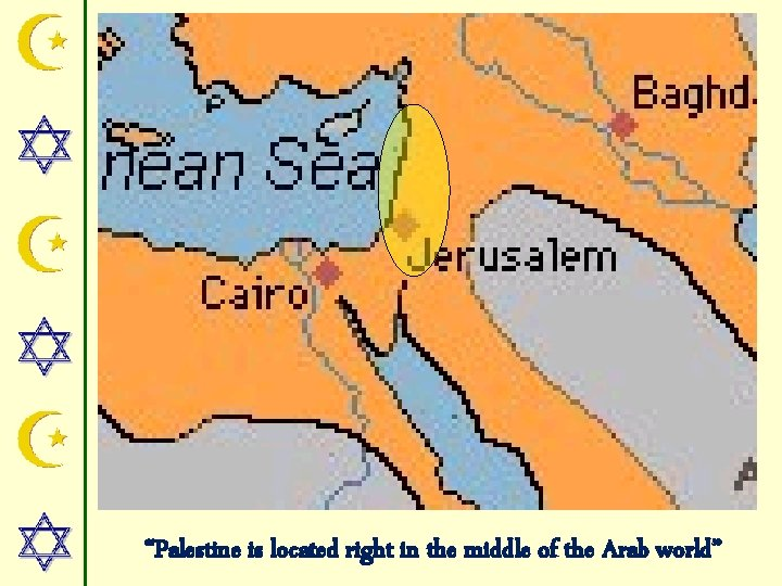 """""""Palestine is located right in the middle of the Arab world"""""""