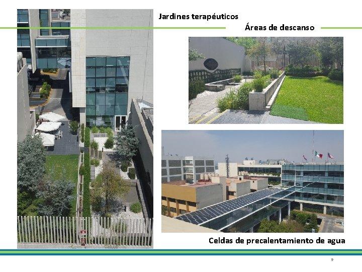 Jardines terapéuticos Áreas de descanso Celdas de precalentamiento de agua 9