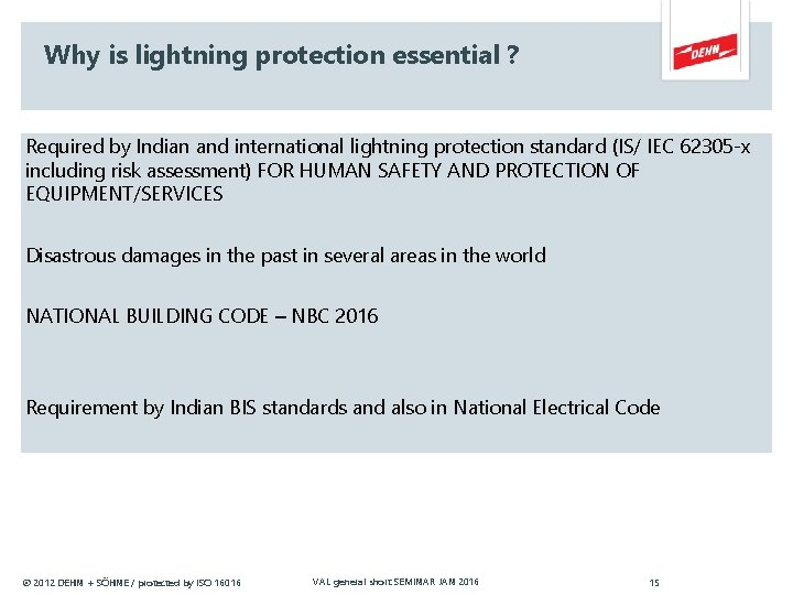 Why is lightning protection essential ? Required by Indian and international lightning protection standard