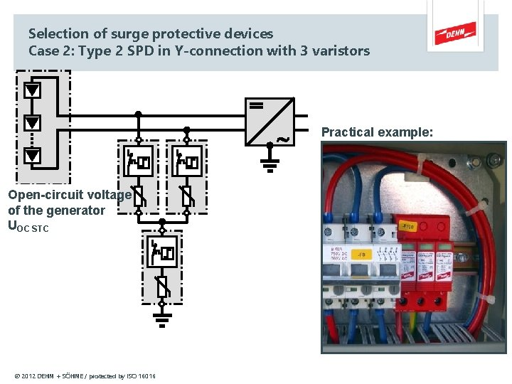 Selection of surge protective devices Case 2: Type 2 SPD in Y-connection with 3