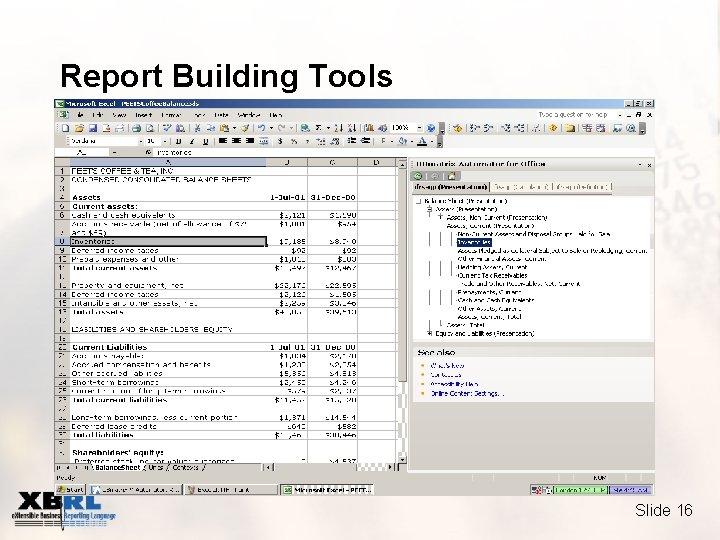 Report Building Tools Slide 16