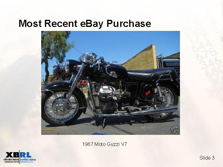 Most Recent e. Bay Purchase 1967 Moto Guzzi V 7 Slide 3