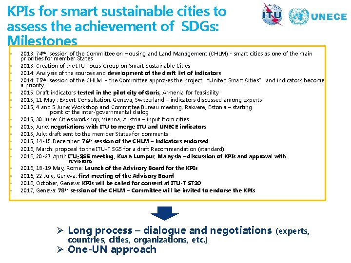 KPIs for smart sustainable cities to assess the achievement of SDGs: Milestones § §