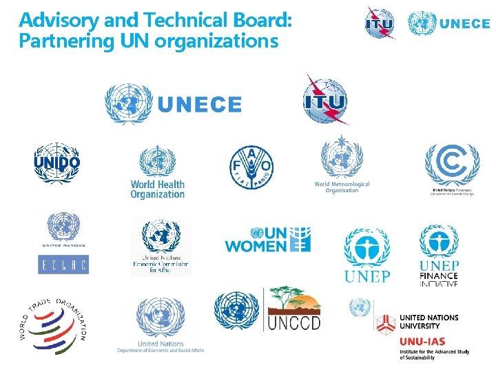 Advisory and Technical Board: Partnering UN organizations