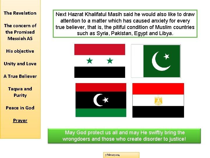The Revelation The concern of the Promised Messiah AS Next Hazrat Khalifatul Masih said