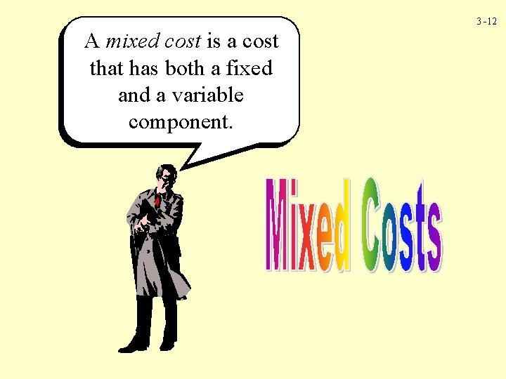 3 -12 A mixed cost is a cost that has both a fixed and
