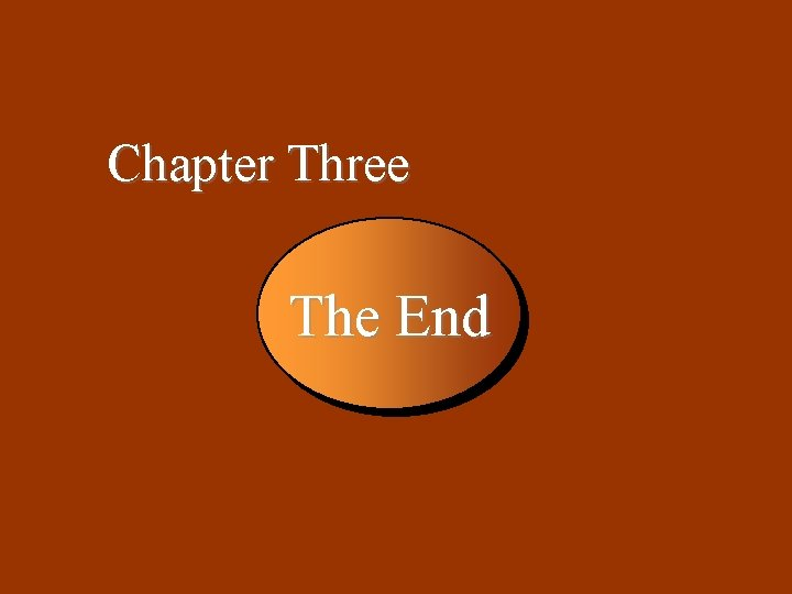 3 -49 Chapter Three The End