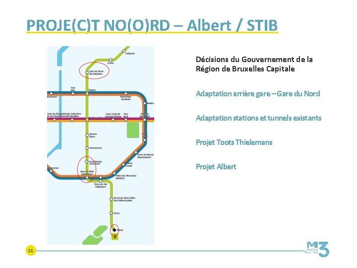 PROJE(C)T NO(O)RD – Albert / STIB Décisions du Gouvernement de la Région de Bruxelles