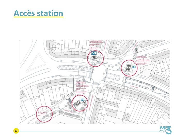 Accès station 13