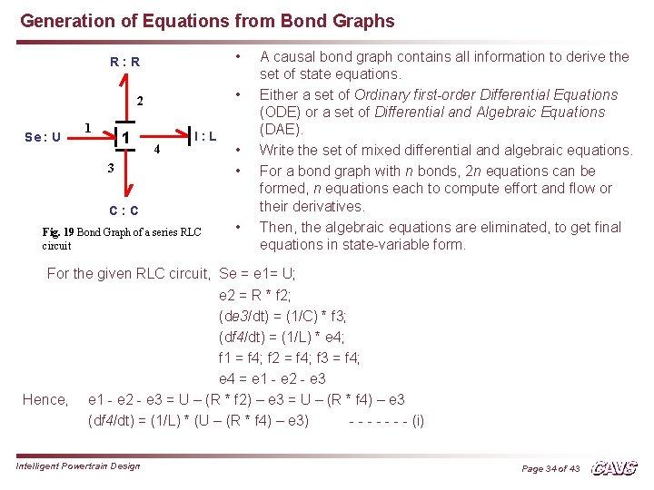 Generation of Equations from Bond Graphs Se : U R: R • 2 •