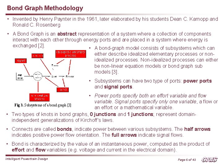 Bond Graph Methodology • Invented by Henry Paynter in the 1961, later elaborated by