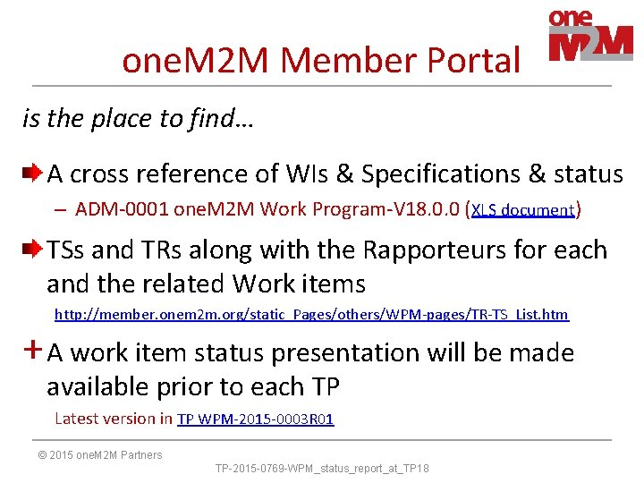 one. M 2 M Member Portal is the place to find… A cross reference