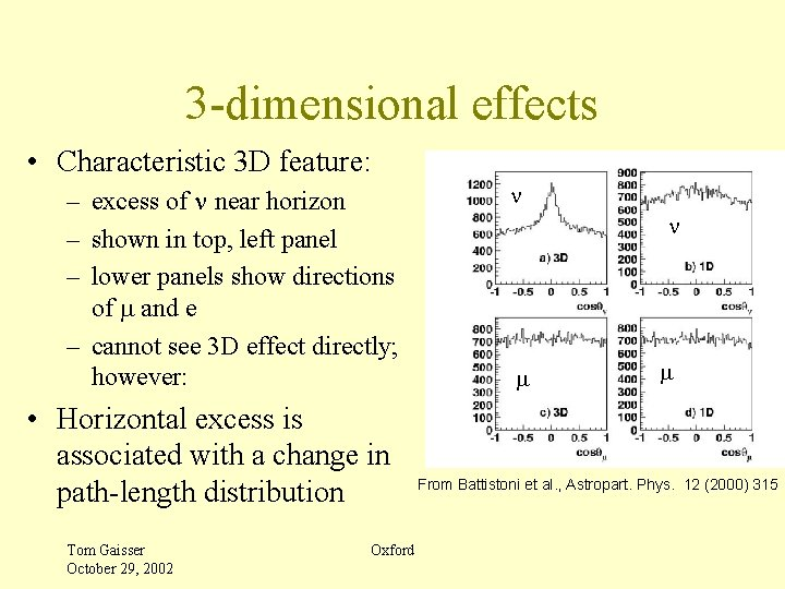 3 -dimensional effects • Characteristic 3 D feature: – excess of n near horizon