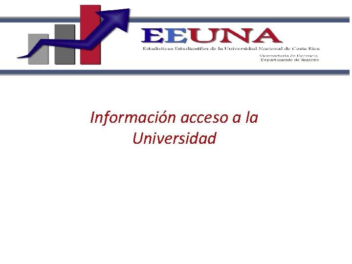 Información acceso a la Universidad