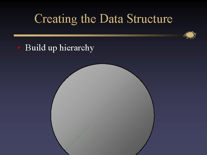 Creating the Data Structure • Build up hierarchy