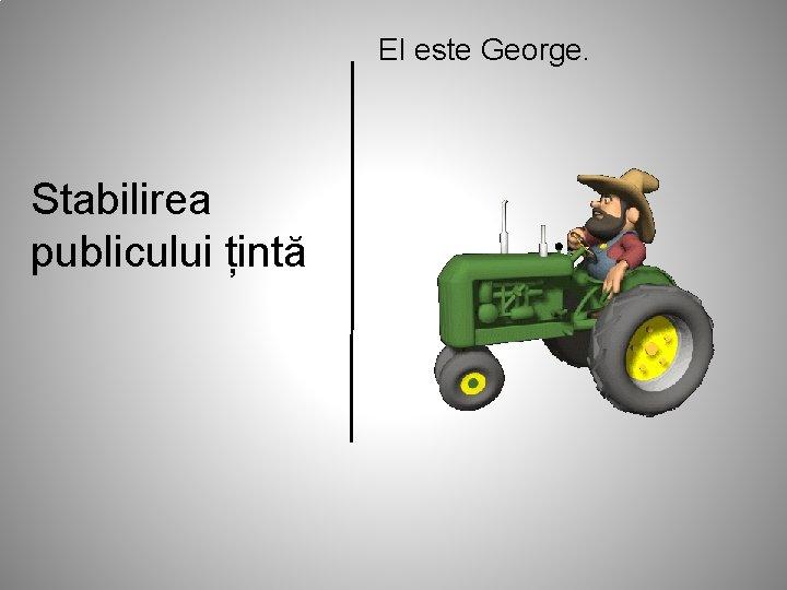 El este George. Stabilirea publicului țintă
