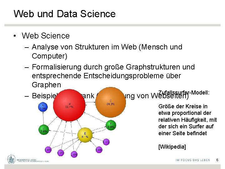 Web und Data Science • Web Science – Analyse von Strukturen im Web (Mensch