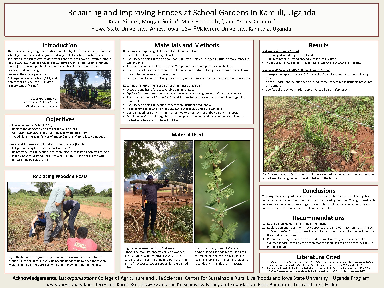 Repairing and Improving Fences at School Gardens in Kamuli, Uganda Kuan-Yi Lee 1, Morgan