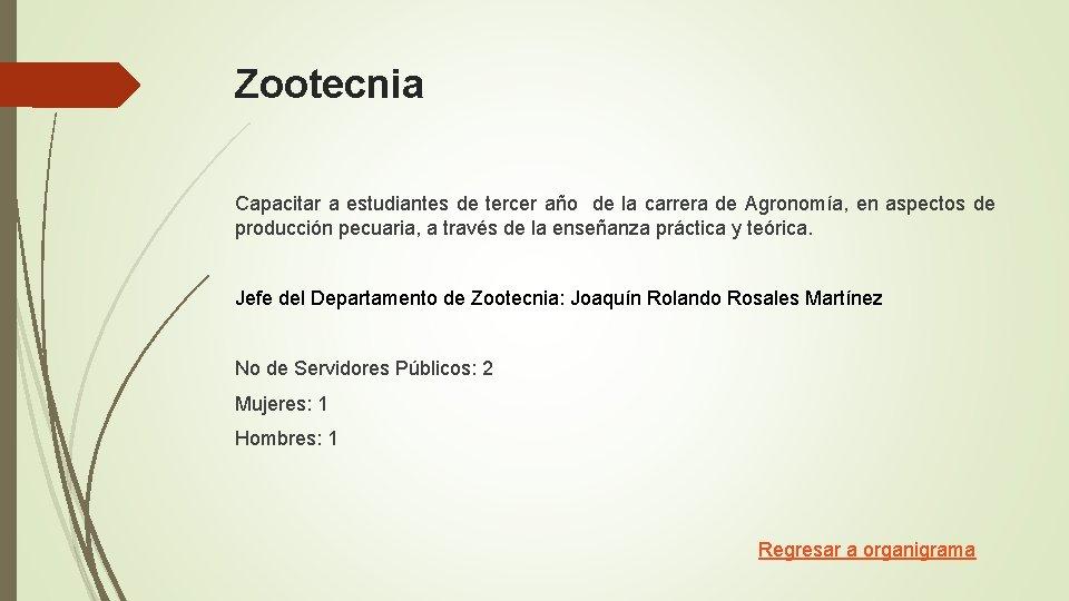 Zootecnia Capacitar a estudiantes de tercer año de la carrera de Agronomía, en aspectos