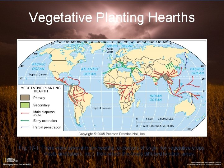Vegetative Planting Hearths Fig. 10 -1: There were several main hearths, or centers of
