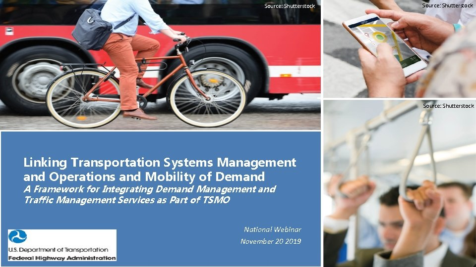 Source: Shutterstock Linking Transportation Systems Management and Operations and Mobility of Demand A Framework