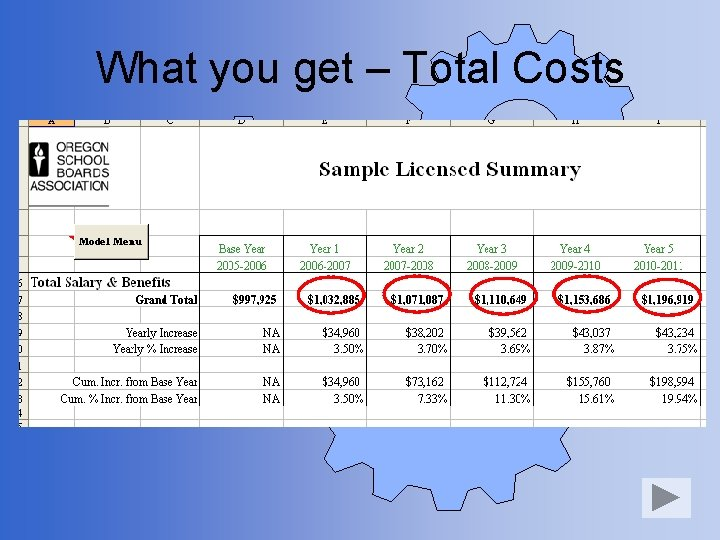 What you get – Total Costs