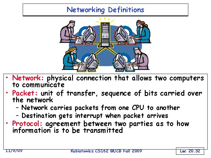 Networking Definitions • Network: physical connection that allows two computers to communicate • Packet: