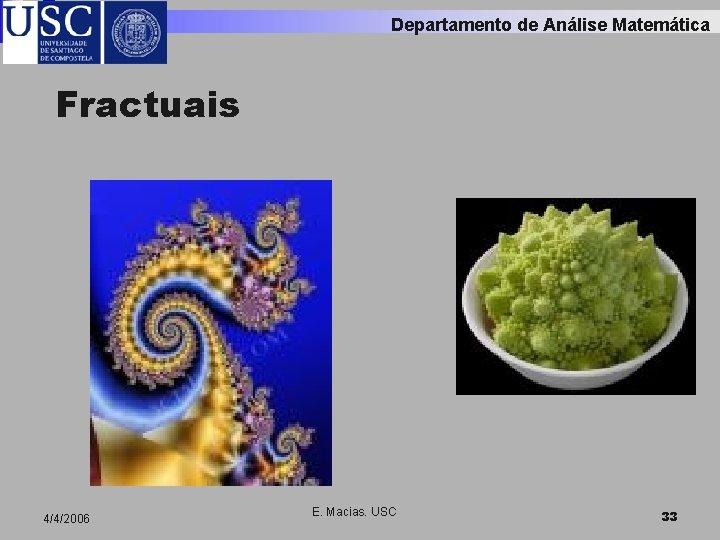 Departamento de Análise Matemática Fractuais 4/4/2006 E. Macias. USC 33