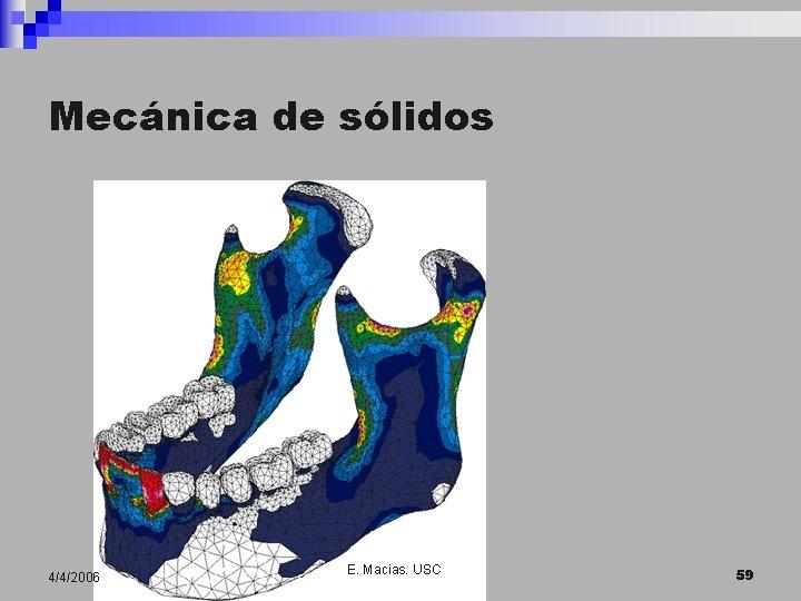 Mecánica de sólidos 4/4/2006 E. Macias. USC 59
